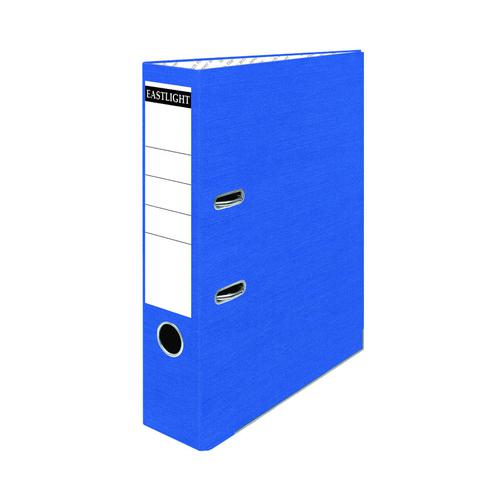 ValueX Lever Arch File Paper on Board A4 70mm Spine Width Blue (Pack 10)