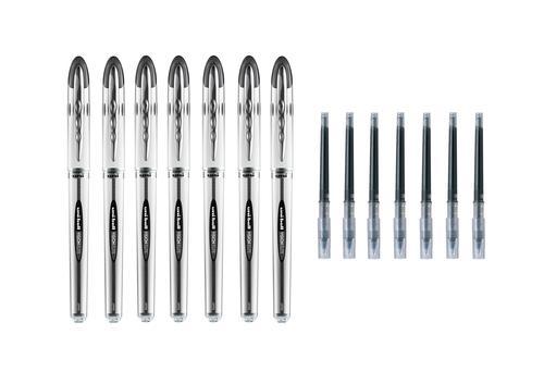 Uniball Vision Elite UB200 Black Pen and Refill PK7