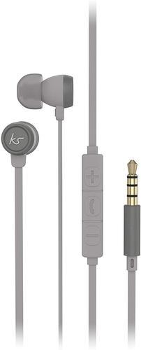KitSound Hudson Wired Earphones Grey