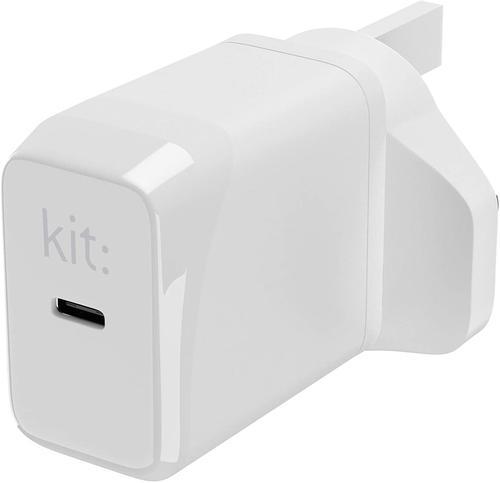 KIT USB C Port Mains Charger White