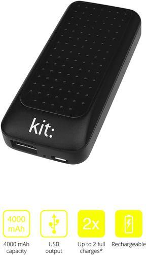 KIT Essentials Power Bank 4000mAh Black