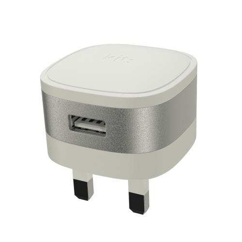 KIT Mains Charger USB A Silver 2.4A