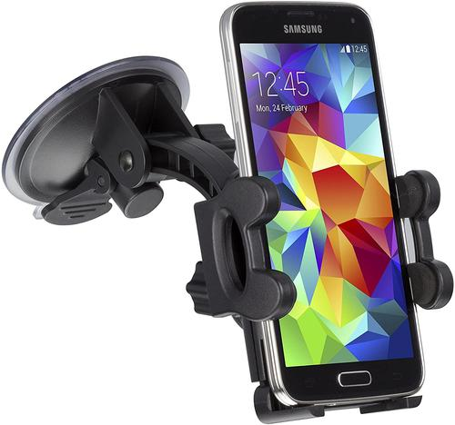 KIT Suction Fit Car Phone Holder Black