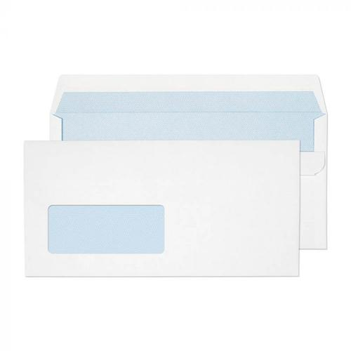 ValueX DL Wallet Envelopes Self Seal White Window 90gsm (Box 500)