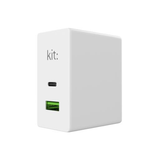 KIT Mains Charger USB C PD30 USB A White