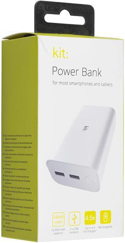 KIT Power Bank 12000 mAh White