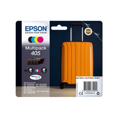 Epson 405 Black CMY Standard Capacity Ink Cartridge 7.6ml 3x 5.4ml Multipack - C13T05G64010
