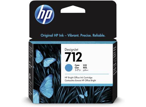 HP 3ED67A 712 CYAN INK CARTRIDGE 29ML