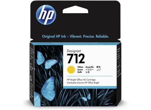 HP 3ED69A 712 YELLOW INK CARTRIDGE 29ML