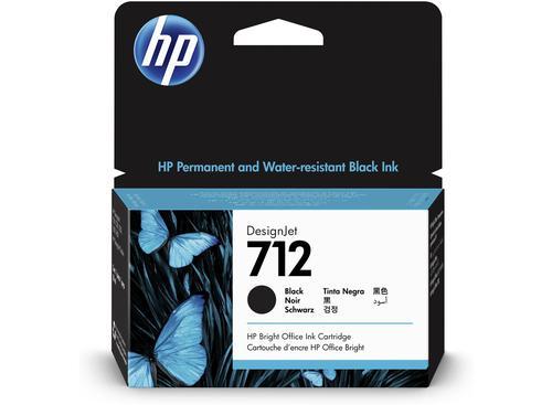 HP 3ED70A 712 BLACK INK CARTRIDGE 38ML