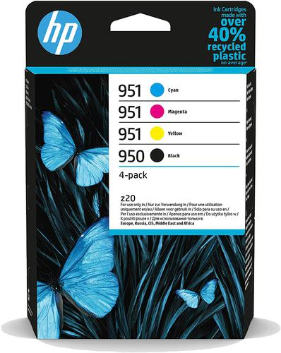 HP 950/951 Cyan Magenta Yellow Black Ink Cartridge Combo 4 pack for HP OfficeJet Pro 251/276/8100/8600/8610/8620 - 6ZC65AE
