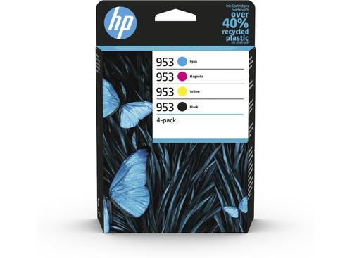 HP 953 Cyan Magenta Yellow Black Ink Cartridge Combo 4 pack for HP OfficeJet Pro 8210/8710/8720/8730/8740 - 6ZC69AE