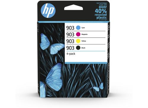 HP 903 Cyan Magenta Yellow Black Ink Cartridge Combo 4 pack for HP OfficeJet 6950/6960/6970 AiO - 6ZC73AE