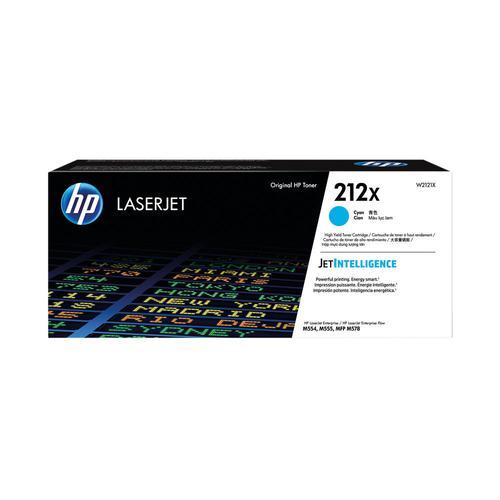 HP Cyan High Yield Toner Cartridge 10K pages W2121X HP Colour LaserJet Enterprise M555 / M554 / M578 series - W2121X