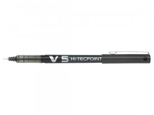 Pilot V5 Hi Tec Liquid Rollerball 0.5mm Black (Pack 6)