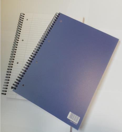 ValueX A4 Plus Wirebound Polypropylene Notebook 160 Pages Blue (Pack 10)