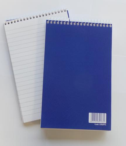 ValueX 127x200mm Wirebound Card Cover Reporters Shorthand Notebook Ruled 300 Pages Blue (Pack 10)