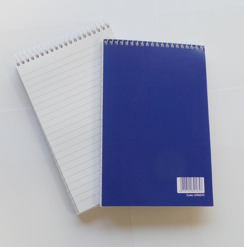 ValueX 127x200mm Wirebound Card Cover Reporters Shorthand Notebook Ruled 160 Pages Blue (Pack 10)