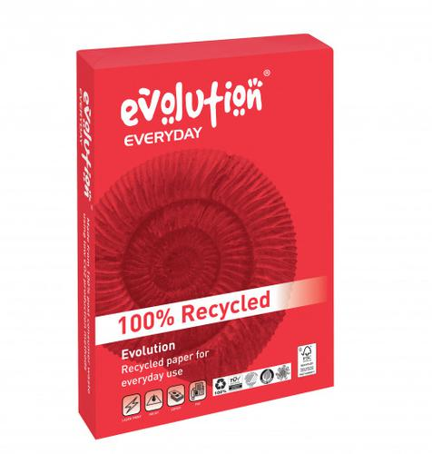 Evolution Everyday Recycled Paper A4 80gsm White (Boxed 10 Reams)