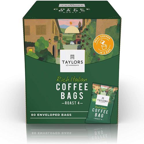 Taylors of Harrogate Rich Italian Coffee Bags (Pack 80) 0403397