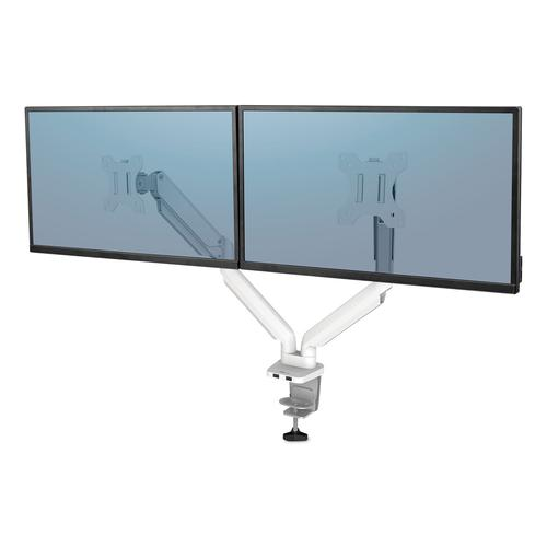 Fellowes Platinum Series Dual Monitor Arm White