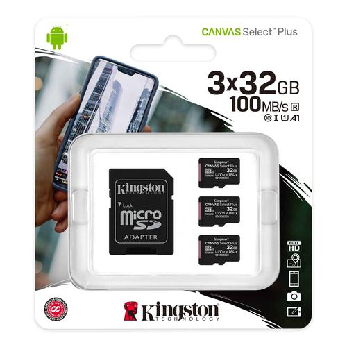 32GB Canvas Select Plus MSDHC AD 3 Pack