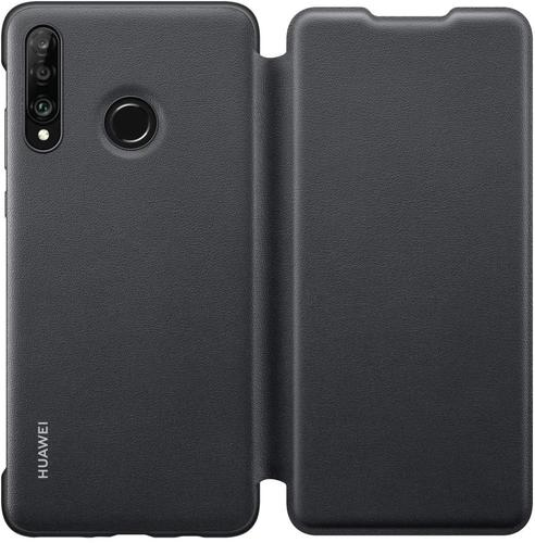 Huawei P30 Lite Wallet Cover Black