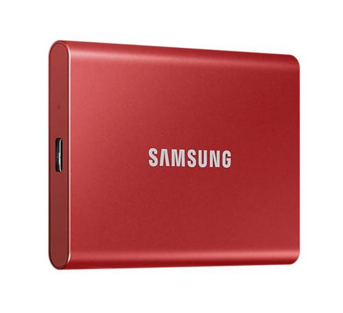2TB T7 USB3.2C Portable Red Ext SSD