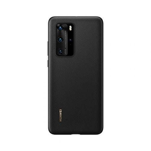 Huawei P40 Pro PU Black Phone Case