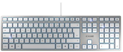 KC6000 USB AZERTY French Keyboard Silver