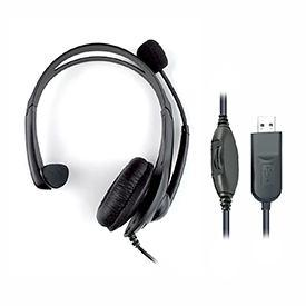 HiHo Monaural USB-A Headset with Boom Microphone