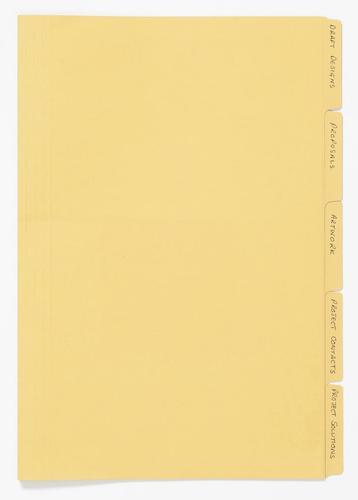 Guildhall Folders Manilla Yellow PK100