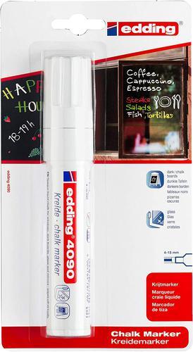 Edding 4090 Chalk Marker Chisel Tip 4-15mm Line White