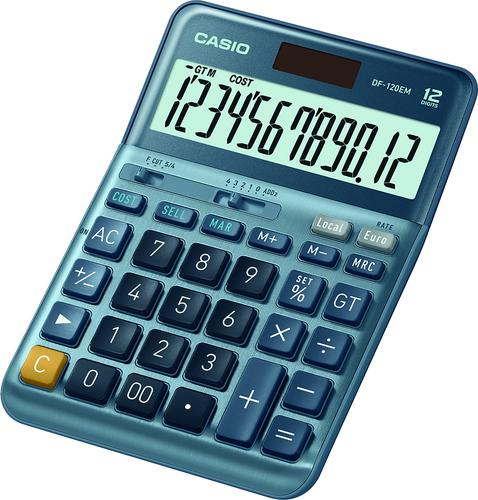 Casio DF-120EM 12 Digit Desk Calculator