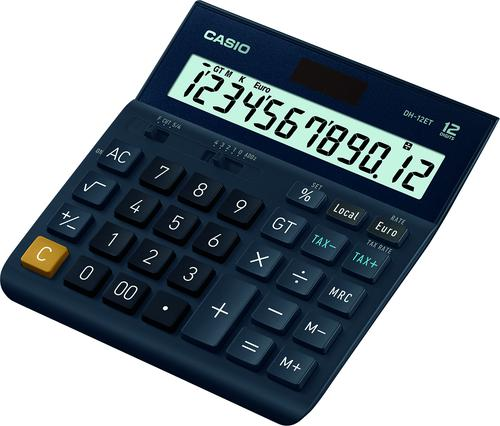 Casio Desktop Calculator Euro Battery Solar-power 12 Digit 3 Key Memory