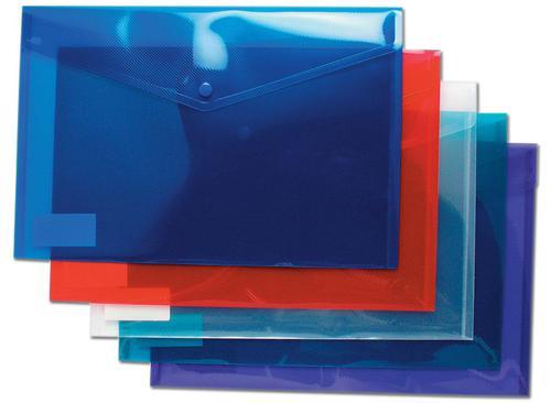 ValueX Popper Wallet Polypropylene A4 Plus Assorted Colours (Pack 25)