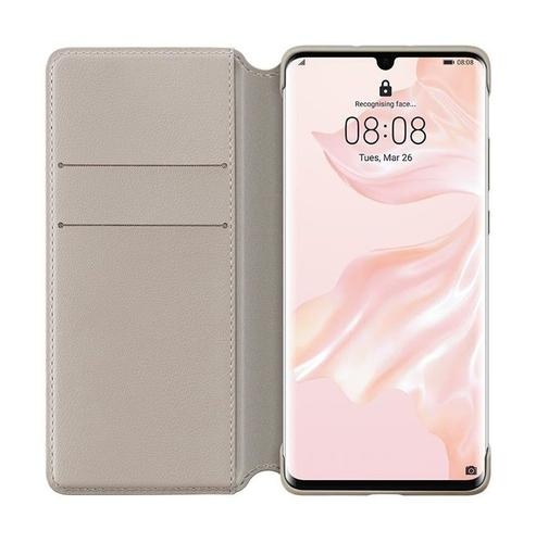 P30 Pro Wallet Cover Phone Case Khaki