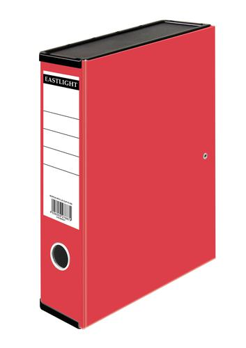 ValueX Box File Paper on Board Foolscap 50mm Spine Width Clip Closure Red