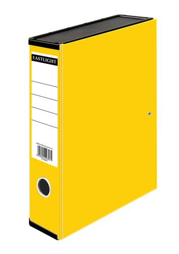 ValueX Box File Paper on Board Foolscap 50mm Spine Width Clip Closure Yellow
