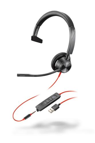 Blackwire 3315 USB A MS Monaural Headset