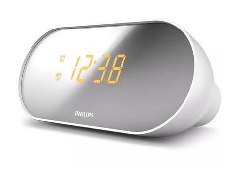 Clock Radio with Mirror Finish Display