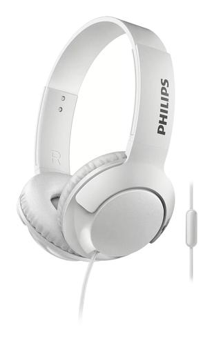 Bass Plus OnEar Wired Headphones White