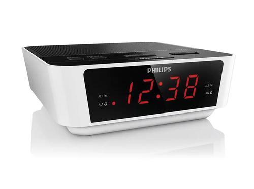 Philips Clock FM Radio Compact Design