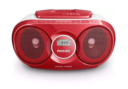 Philips AZ215R CD Sound Machine Red