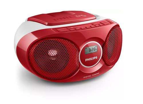 Philips AZ215R CD Sound Machine Red