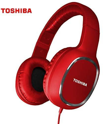 Toshiba Wired Sports Headphones Red