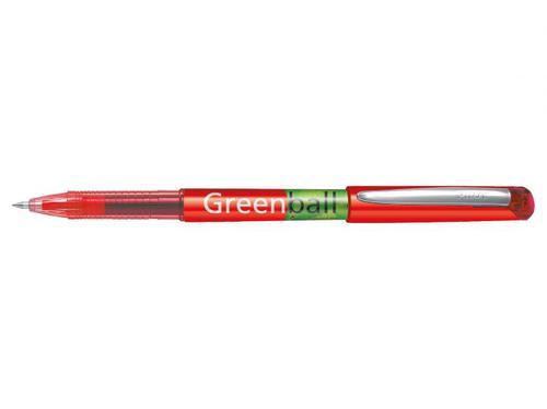 Pilot Begreen Greenball Liquid Ink Rollerball Pen Recycled 0.7mm Tip 0.35mm Line Red (Pack 10)