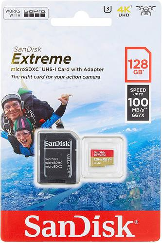 128GB Extreme MicroSDXC and SD Adapter