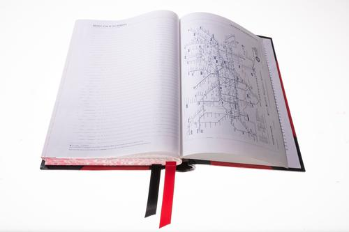 Collins Standard Desk 42 A4 2 Pages per Day 2022 Diary Red 42.15-22