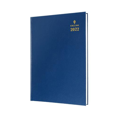 Collins Standard Desk 52 A5 Day To Page 2022 Diary Blue 52.60-22